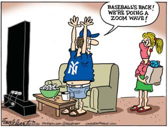 Editorial Cartoon U.S. baseball coronavirus MLB