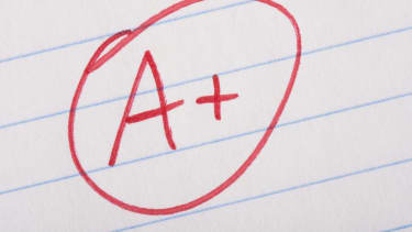 An A+ written in red ink.