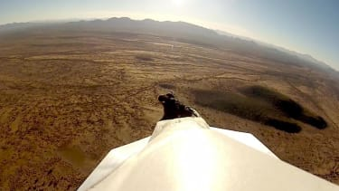 Camera captures a 45-foot paper airplane's graceful flight — and crash