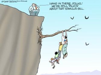 Political Cartoon U.S. congress coronavirus stimulus bill