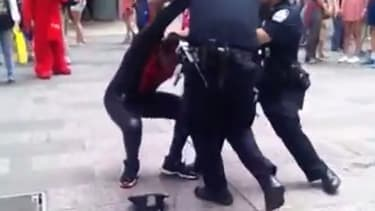 Watch 'Spider-Man' punch a cop in the face in Times Square