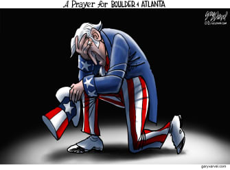 Editorial Cartoon U.S. boulder atlanta shootings