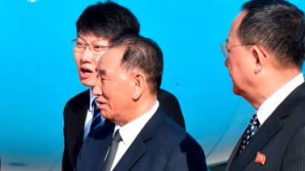North Korean officials meet Mike Pompeo.