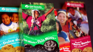 In 1933 a box of girl scout cookies only cost 23 cents.