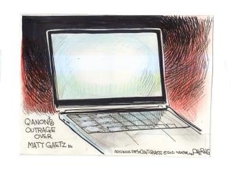 Political Cartoon U.S. matt gaetz qanon