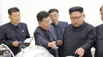 North Korean leader Kim Jong Un provides guidance on a nuclear weapons program in September 2017.