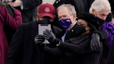 James Clyburn and George W. Bush