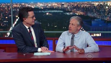 Jon Stewart returns to The Late Show