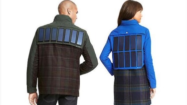 You can wear this solar-powered jacket to charge your phone