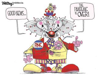 Political Cartoon U.S. RNC GOP COVID