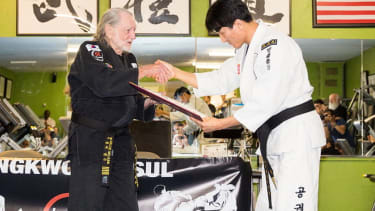 Country legend Willie Nelson is now a 5th-degree black belt
