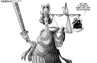 Editorial Cartoon U.S. chauvin verdict blind justice