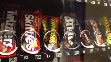 Vending machine snacks.