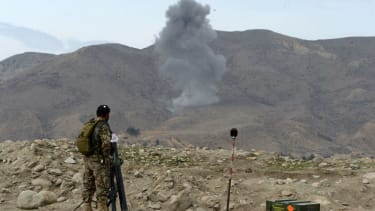 The aftermath of a U.S. airstrike in Afghanistan