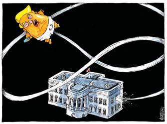 Political Cartoon U.S. Trump loss White House