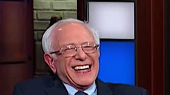 Stephen Colbert interviews Bernie Sanders