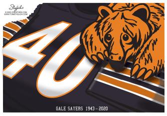 Editorial Cartoon U.S. Gale Sayers RIP Chicago Bears