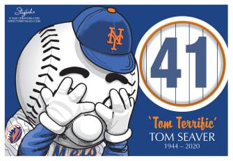 Editorial Cartoon U.S. Tom Seaver RIP Mets