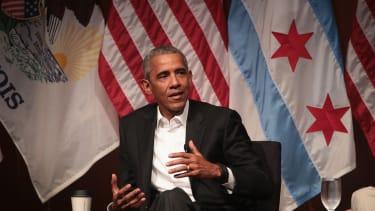 Barack Obama speaks at the University of Chicago