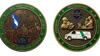 A coin circulated by Border Patrol agents.