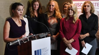 A group survivors of alleged sexual assault by gynecologist Dr. George Tyndall at USC.