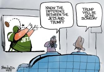 Editorial Cartoon U.S. Trump New York Jets
