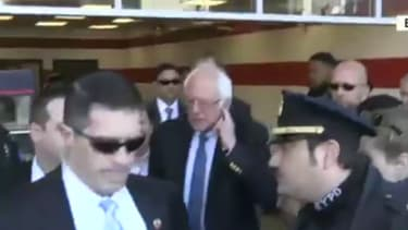 Bernie joins the protest.