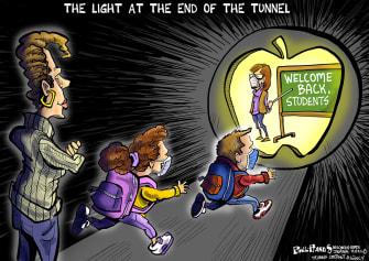 Editorial Cartoon U.S. cdc school reopenings covid