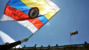 The Colombian flag.