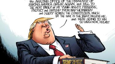 Political Cartoon U.S. Inauguration Art of the Deal