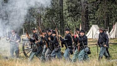 A Civil War reenactment.