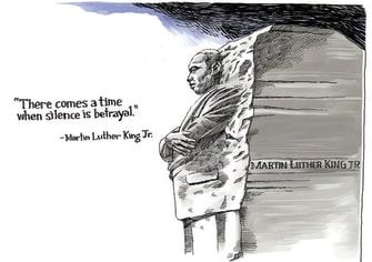 Editorial Cartoon U.S. MLK Capitol riot