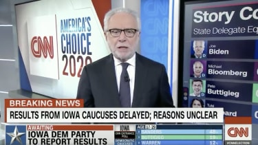 CNN host Wolf Blitzer.