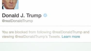 President Trump blocks Twitter users.