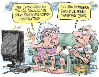 Editorial Cartoon U.S. NRA Guns Crooks Corruption