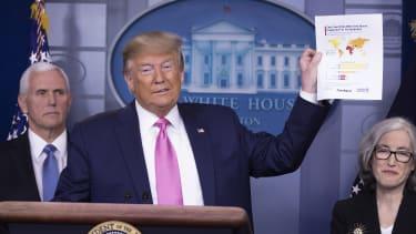 Trump at a coronavirus press conference