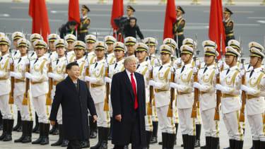 Xi Jinping and President Trump.