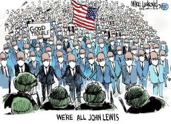 Editorial Cartoon U.S. John Lewis Trump federal agents
