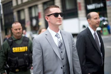 Baltimore police officer is acquitted of charges in Freddie Gray case.