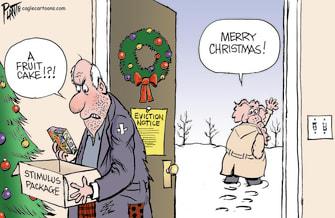 Political Cartoon U.S. Congress COVID stimulus