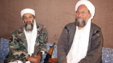 Osama bin Laden sits with Ayman al-Zawahiri in Afghanistan in 2001: The Egyptian terrorist has been chosen to succeed bin Laden as al Qaeda's leader.