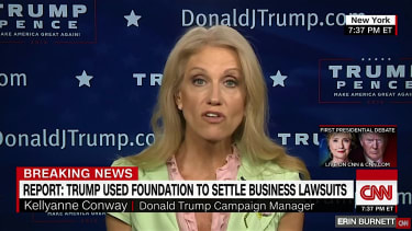 Trump campaign manager Kellyanne Conway talks about Trump Foundation self-dealing