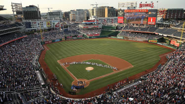 A view of the Congressional Baseball Game.