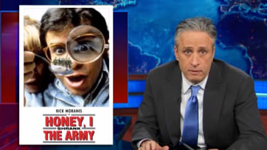 Watch The Daily Show mock Dick Cheney's gripes about U.S. military cuts