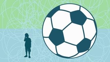 A big soccer ball.