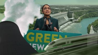 Green New Deal requires train, nuclear and hydropower.