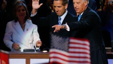 Joe Biden and his son Beau in 2008