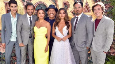 """The cast of """"Dora and the Lost City of Gold""""."""