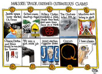 Political Cartoon U.S. marjorie taylor greene