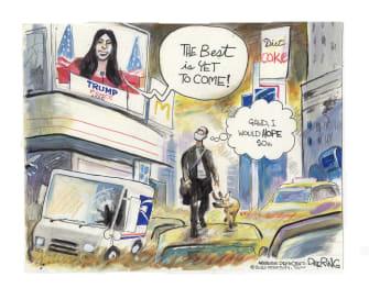 Political Cartoon U.S. 2020 RNC dystopia I Am Legend
